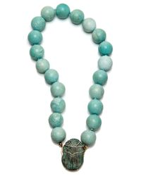 Silvia Furmanovich - Multicolor Scarab Turquoise Beaded Necklace - Lyst
