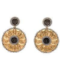 Silvia Furmanovich - Metallic Matte Gold Sun Coin Earrings - Lyst