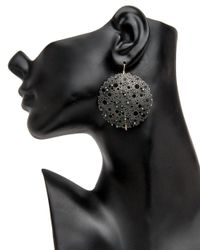 Ted Muehling - Multicolor Oxidized Small Queen Anne Lace Earrings - Lyst