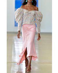 Hellessy Pink Jane Asymmetrical Midi Skirt