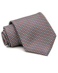 Brioni Orange Geometric Tie for men