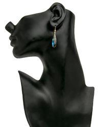 Ted Muehling Multicolor Handcut Labradorite Drop Earrings