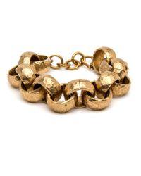 Ashley Pittman - Metallic Usawa Hammered Bronze Link Bracelet - Lyst