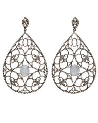 Loree Rodkin - Metallic Pear Shape Open Lace Earrings - Lyst