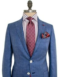 Isaia Light Blue Melange Sportcoat for men