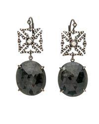 Loree Rodkin Multicolor Maltese Cross Drop Earrings