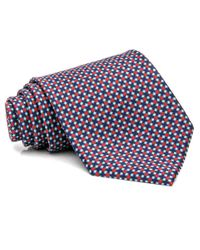 Brioni Red Blue And Navy Diamond Tie for men