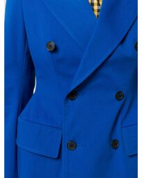 Balenciaga Blue Sculpted Waist Jacket