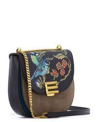 Etro Multicolor Alba Oriental Print Leather Satchel