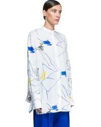Ports 1961 - Blue Long Sleeves Shirt - Lyst