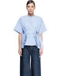 Ports 1961 - Blue Short Sleeves Shirt - Lyst
