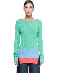 Ports 1961 - Blue Long Sleeves Sweater - Lyst