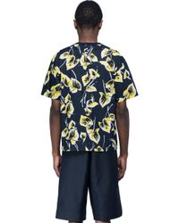 Marni - Blue T-shirt With Flower Print for Men - Lyst