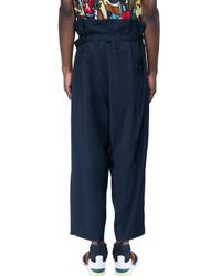 Marni Blue Trousers With Belt for men