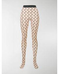 MARINE SERRE Multicolor Leggings mit Mond-Print