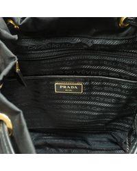 Prada - Black Robot Leather-trimmed Backpack - Lyst