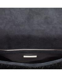 Miu Miu - Black Matelasse Velvet Clutch - Lyst