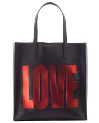 Givenchy | Black Love Leather Tote Bag  | Lyst