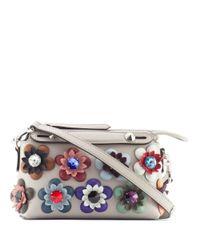 Fendi - Gray Bytheway Mini W Multicolorflowers Applique - Lyst