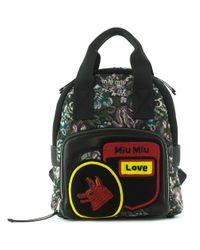 Miu Miu. Women s Embellished Jacquard Backpack 062a286d2b8e7