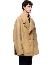 J.W.Anderson - Blue Wool Coat for Men - Lyst