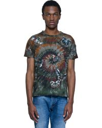 Valentino - Green Embroidered Printed Cotton T-shirt for Men - Lyst