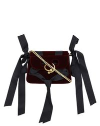 J.W. Anderson - Black Pierce Mini Velvet Bag - Lyst