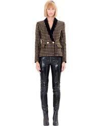 Balmain - Black Embellished Cotton Blazer - Lyst