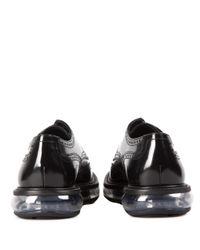 Prada Multicolor Leather Derby Shoes With Platform for men