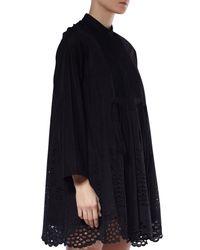 Chloé - Black Cotton Poplin Dress - Lyst