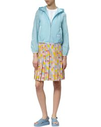 Prada Blue Hooded Nylon Windbreaker