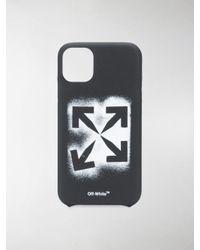 Cover per iPhone 11 Stencil Arrows di Off-White c/o Virgil Abloh in Multicolor da Uomo