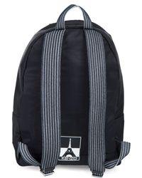 KENZO Black Embroidered Nylon Backpack for men