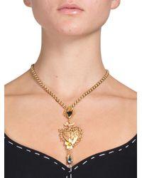 Dolce & Gabbana   Metallic Brass & Crystal Baroque Heart Necklace   Lyst