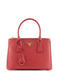 Prada | Red Galleria Small Saffiano Leather Bag | Lyst