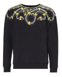 Marcelo Burlon | Black Snake Print Cotton Sweatshirt for Men | Lyst