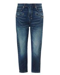 Balmain | Blue Cropped Denim Trousers for Men | Lyst