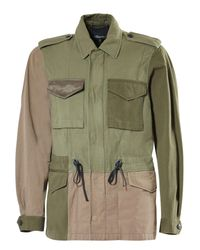 3.1 Phillip Lim | Green Mixed Canvas Patchwork Field Jacket for Men | Lyst