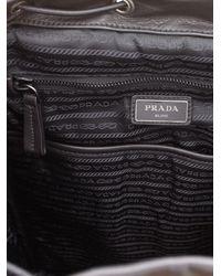 Prada Black Signature Leather Backpack