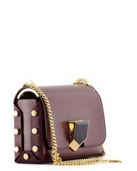Jimmy Choo - Purple Lockett Petite Leather Shoulder Bag - Lyst