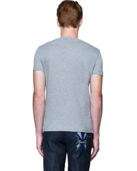 Fendi - Gray T-shirt With Eyes for Men - Lyst
