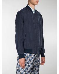 Fendi - Blue Everyday Print Reversible Bomber Jacket for Men - Lyst