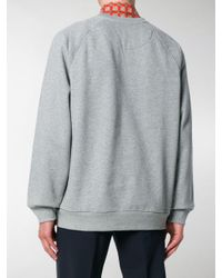 Burberry - Gray Embroidered Archive Logo Sweater for Men - Lyst