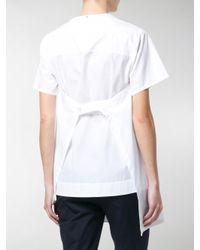 Sportmax White Mirco Asymmetric Shirt