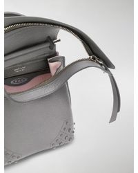 Tod's - Gray Mini Wave Backpack - Lyst