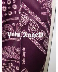 Palm Angels Purple Contrast Paisley Track Pants for men