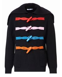 Givenchy | Black Toggle Fastening Wool Cardigan for Men | Lyst