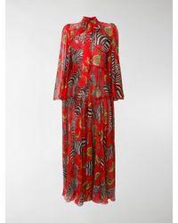 5d9c8bb6cf9 Dolce   Gabbana Zebra And Lemon Dress in Red - Lyst