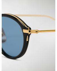 Thom Browne Blue Navy & Gold Round Sunglasses