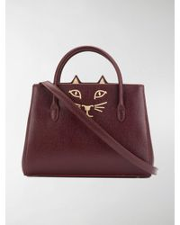 Charlotte Olympia Red Feline Petit Poitier Tote Bag
